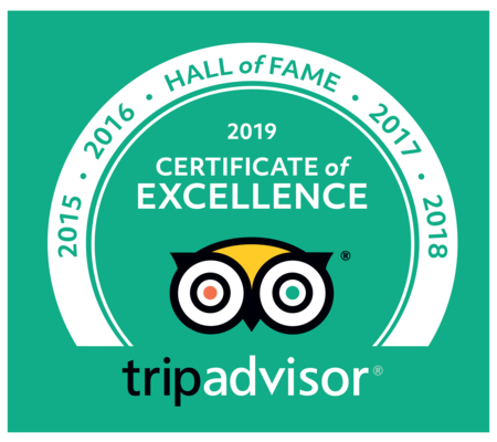 Five years of Trip Advisor Certificates of Excellence